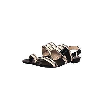 nytt koncept Storbritannien bästa erbjudanden på MICHAEL MICHAEL KORS Guiliana Flat Sandals in Black & White ...