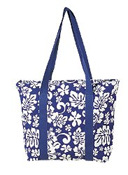 Canvas Tote Bag / Blue / Large