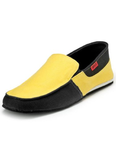 Funk Men's Yellow and Black Canvas Shoes 6 (multicolor)