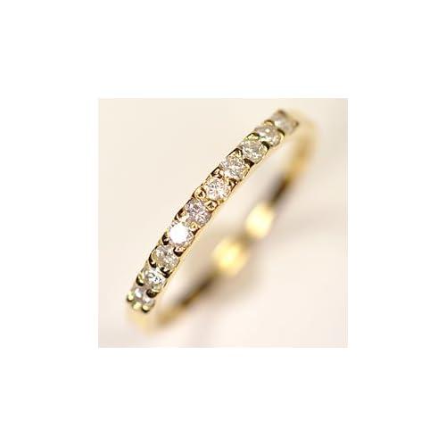 [キュートジュエリー]Cute jewerly ダイヤモンド 指輪 K18 ダイヤ0.25ct (鑑別書カード付) エタニティー10リング 8