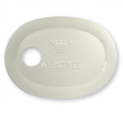 Extra Gifts Assiette en céramique pour réception Buffet et-ALP style avec couronne