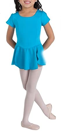 Buy Body Wrappers Petal Cap Sleeve and Skirt Leotard BLACK 3-4 by Body Wrappers
