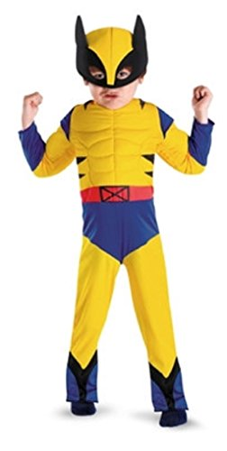Marvel Superhero Squad Wolverine Toddler Costume Size: Toddler Medium (3T-4T) (Wolverine Muscle Costume)