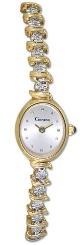 Geneve Mini 14k Solid Gold Diamond Womens Watch W08088