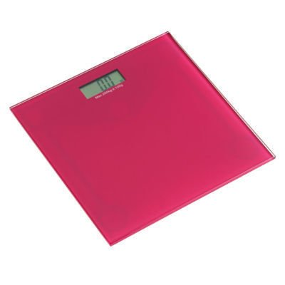 Cheap Price Pink Electronic Digital Bathroom Scales With Hot Pink Tempered Glass Surface New