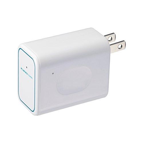 PLANEX ホテルでWiFi コンセント直挿型 無線LANルーター ホテル用 11n/g/b 150Mbps ちびファイ3 MZK-DP150N PS4・AppleTV・iPhone・Android対応