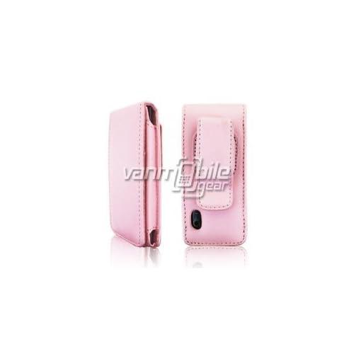 VMG Apple iPod Nano 5 5th Generation 5G Case   Baby Pink Premium Leather Magnetic Flip Cover Case Carrier Holster for Apple iPod Nano 5 5th Gen 8GB/16GB [by VanMobileGear]