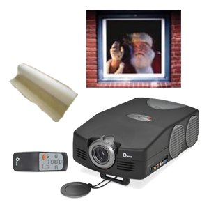 Virtual Santa- Santa in the Window- Projector Decoration Kit