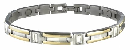 Ladies Executive Gem Duet Magnetic Bracelet from Sabona