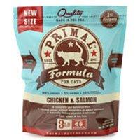 Primal Pet Food Raw Diet, Feline Chicken & Salmon Formula, 3-Pound Nuggets