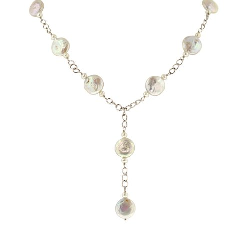 Sterling Silver Coin Freshwater Cultured Pearl