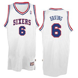 Philadelphia 76ers Julius Erving Hardwood Classics Swingman Jersey by Wrigleyville Sports