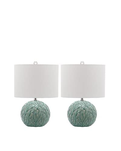Safavieh Set of 2 Robinson Table Lamps, White/Light Blue