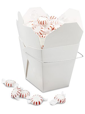 Oasis Supply Oasis Supply 50-Chinese Take Out Boxes for Party Favor and Food Pail, 30-Ounce, White