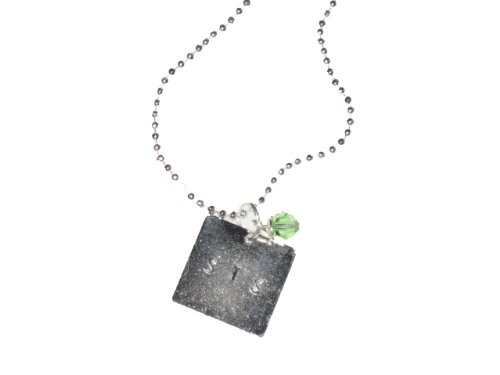 Handstamped Square Sis Gift Necklace