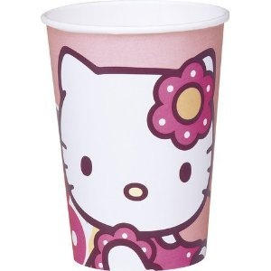 10 bicchieri in cartoncino 20 cl Hello Kitty Bamboo