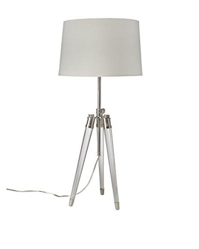 Home Philosophy Brigitte 1-Light Table Lamp, Nickel