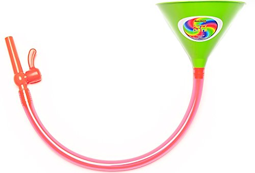 Ultimate Beer Bong (Choose Red Or Clear Tubing and Blue, Black, Green, Pink Funnel) Made In USA!) (Beer Bong Gravity Bong compare prices)