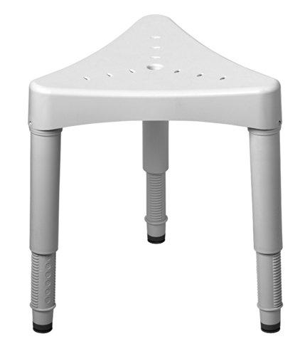 Ableware 727160000 Adjustable Corner Shower Seat, White (Shower Seat Corner compare prices)