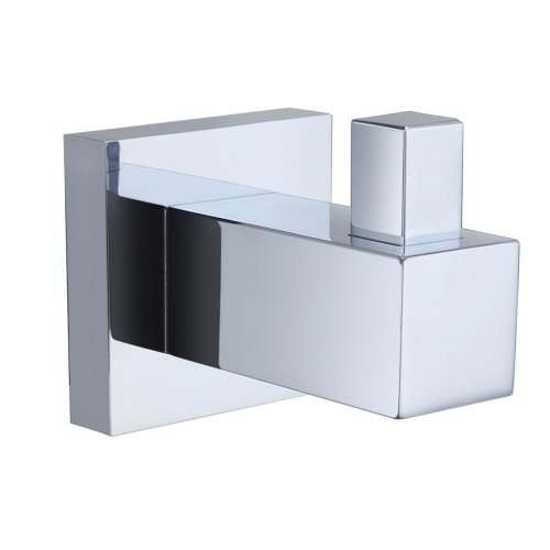 KES A1160 Solid Brass Bathroom Square Single Robe Hook Hanging Clothing Coat Hat Towel Wall-Mount, Chrome