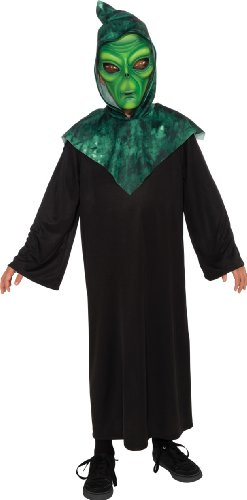Alien Costume, Green, Medium front-1047937