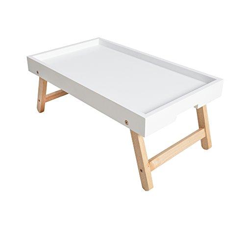 Design-Retro-Frhstckstablett-SCANDINAVIA-wei-Eiche-Bett-Tablett-klappbar-Tisch