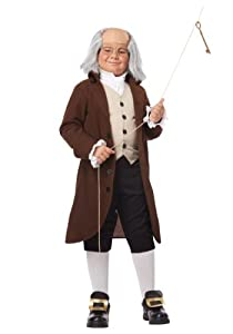 California Costumes boys Big Boys' Benjamin Franklin Costume 2X-Large (14-16)