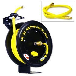 Images for 50' Auto-Rewind Air Hose Reel with 3/8