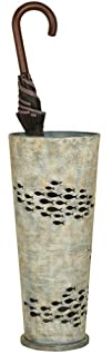 Aqua Blue Metal Umbrella Stand with C…