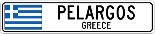 pelargos-greece-greece-flag-city-sign-4x18-quality-aluminum-sign