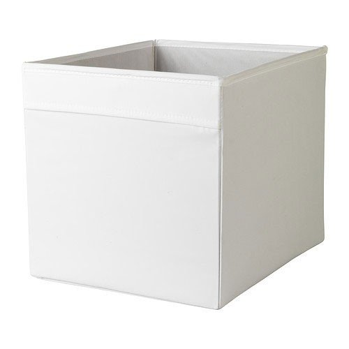 IKEA-Regalfach-DRNA-Aufbewahrungsbox-Regaleinsatz-in-33x38x33-cm-BxTxH-WEISS-passend-fr-Expedit-Besta-etc