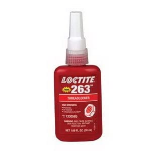 Loctite 1330585 263 Thread Locker, 50 mL: Threadlocking Adhesives