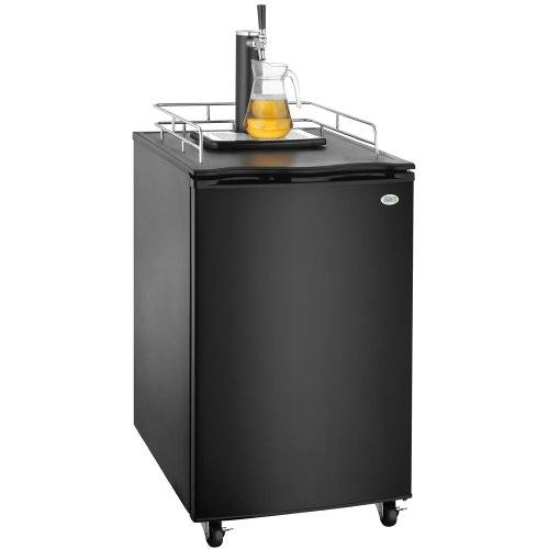 Great Northern Black Kegerator Beer Dispenser Refrigerator