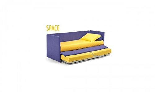 Noctis - Letto Estraibile Space, Versione: Letto, Misura: 80X190