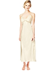 Autograph Floral Lace Long Nightdress MADE WITH SWAROVSKI® ELEMENTS