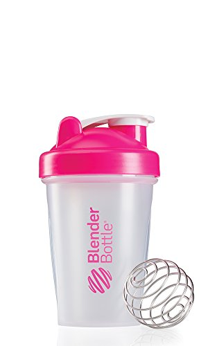 Blenderbottle Classic Shaker Bottle, 20-Ounce, Clear/Pink front-792717
