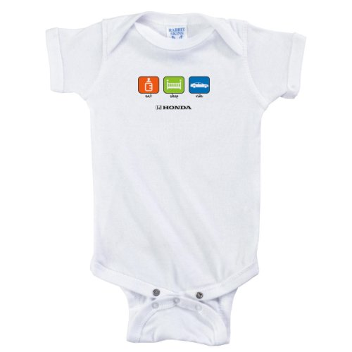 Officially Licensed Honda Eat Sleep Ride Baby Infant Onesie Creeper Romper - Size 6 Months front-731927