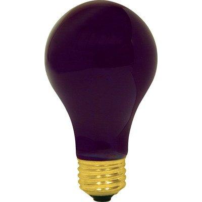 Ge Blacklite Light Bulb 60 W A19 Med Base 4.43 In. Boxed