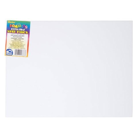 Bulk Buy: Darice Foamies Extra Thick Foam Sheet White 6mm thick 9 x 12 inches (10-Pack) 1199-20