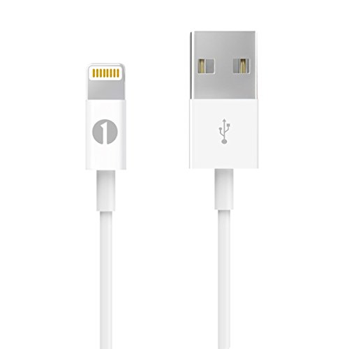 [Apple MFI Certified] 1byone Lightning to USB Cable 3.3ft (1 Meter) for iPhone 7 7 Plus 6s 6 Plus 5s SE 5c 5, iPad mini, iPad Air, iPad Pro, iPod touch 6th Gen / nano 7th Gen, White (Coiled Lightning To Usb Cable compare prices)