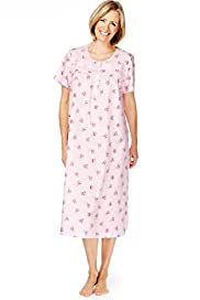Short Sleeve Floral Nightdress