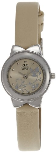 Q & Q Analog Brown Dial Women's Watch - S067-362Y