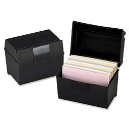 6 PK Esselte Pendaflex 01461 Plastic Index Card File Box w/ Top Groove