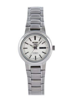 Seiko Women's SYME39K1 Seiko 5 Automatic Light Silver Dial Stainless Steel Watch