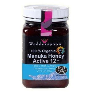Wedderspoon Raw  Organic Manuka Honey Active 12+ (500g), 17.6-Ounce Jar