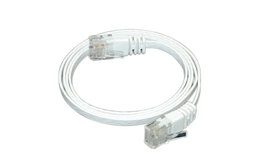 Optimus Electric 3 Feet Cat6 Ultra Flat Cable With Smooth Jacket - White