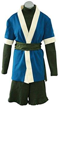 Mtxc Men's Naruto Cosplay Costume Haku 1st Size L-Plus Blue