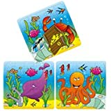 12 Sealife Theme Mini Jigsaw Puzzles - Childrens Birthday Party Loot Bag Toy