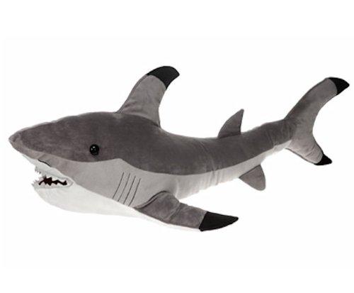 "Gray Shark Plush Stuffed Animal Toy by Fiesta Toys - 12"""