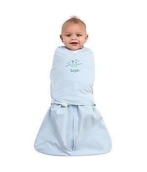 Personalized Halo Sleepsack Wearable Blanket With Swaddle Wrap-Blue